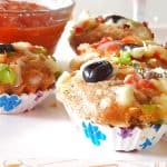 Pizza muffins recipe | Savory muffins recipe | How to make pizza muffins recipe