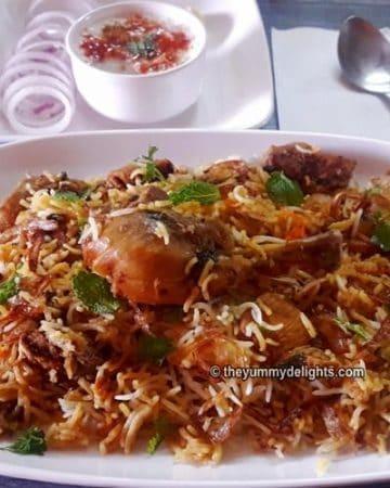chicken briyani in pressure cooker