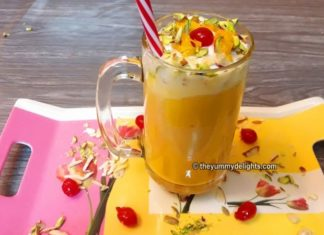 how to make mango mastani recipe with step by step pictures
