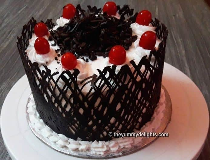 how to make black forest cake recipe