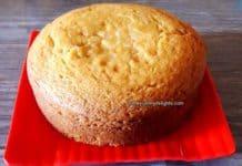 eggless sponge cake recipe.