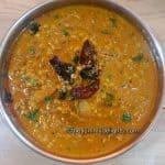 Close up of Mooga moley randayi in a serving dish.