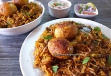 egg biryani recipe in pressure cooker