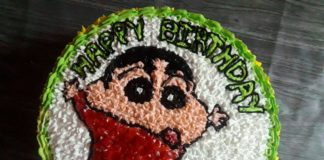 Shinchan birthday cake recipe