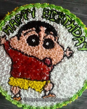Shinchan birthday cake recipe