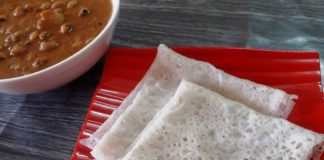 neer dosa recipe made with rice flour.