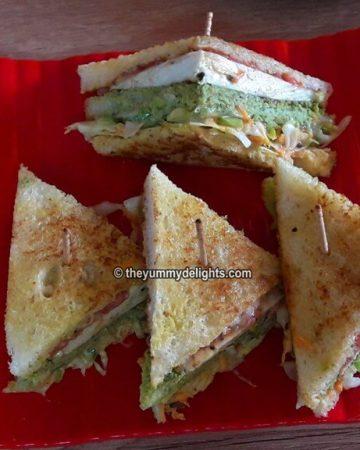 Veg club sandwich recipe