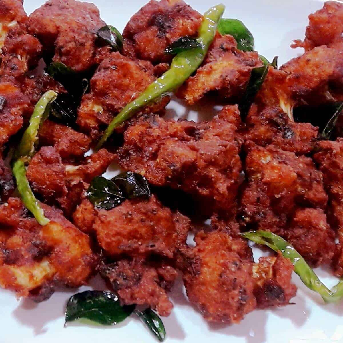 Gobi 65 Restaurant Style Cauliflower 65 Crispy Cauliflower Fry Recipe