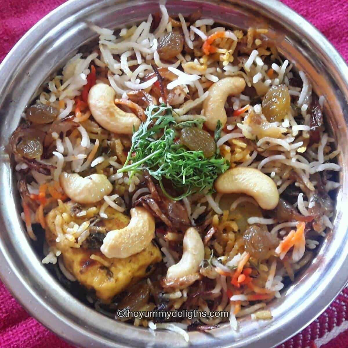 Veg Biryani Hyderabadi Veg Biryani Recipe The Yummy Delights